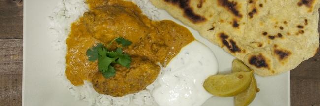 nauta linssi kukkakaali curry naan leipä raita kastike intialainen resepti