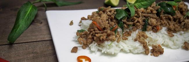 possun jauheliha thai basilika chili vietnamin korianteri riisi kalakastike kiinalainen soija kastike