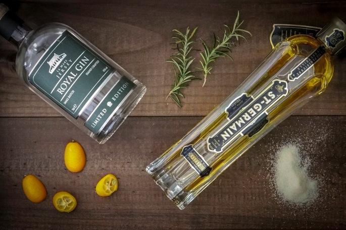 Kumkvatti cocktail drinkki Jersey gin gini rosmariini st Germain seljankukkalikööri